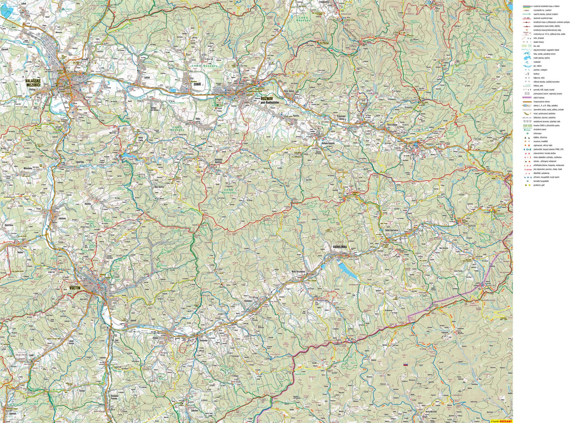 Pesky Mapa Turisticke Trasy Valassko Moje